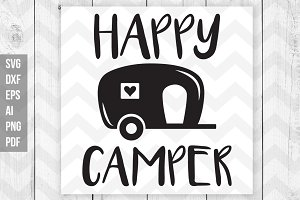 Happy Camper SVG/DXF/Print files