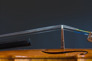 Violin on a dark background