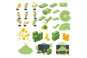 money big set of icons