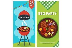 BBQ party vertical banners