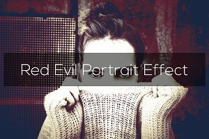 Red Evil Portrait Effect