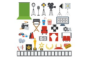 cinema and videoprodaction icons