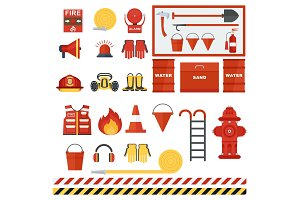 Set of fire equipmen