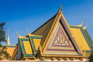 Golden temple in Phnom Penh