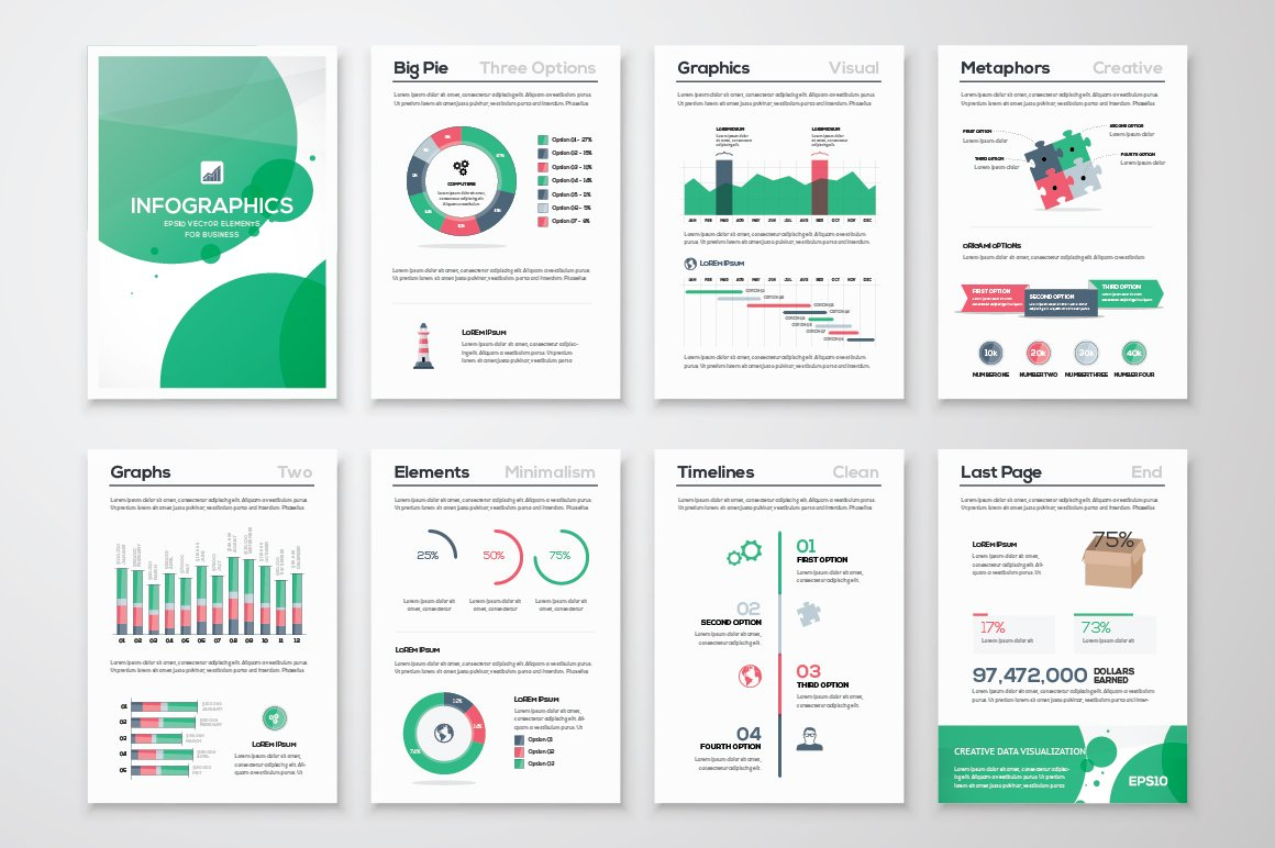 Infographic Brochure Elements 11 ~ Illustrations ...