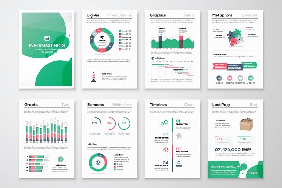 Infographic brochure elements 11 illustrations on for Infographic brochure template