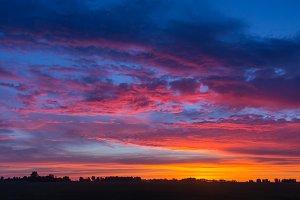 Beautiful Cityscape Sunset