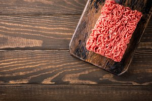 Fresh raw beef minced meat