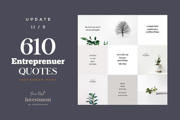 610 Entrepreneur Social Media Quotes