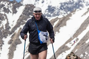 Trail runner, man and success in mountains. Running, sports