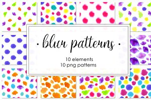 Blur patterns collection