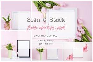 Frame Mockup Bundle: PINK