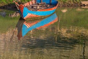 Boat in the Avon River, Bristol