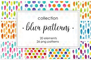 Watercolor pattern collection