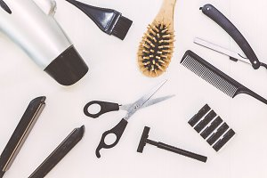 Professional hairdresser tools