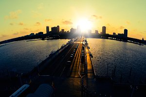 St. Petersburg Skyline at Sunset