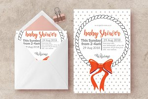 Oh Baby Invitation Card Template