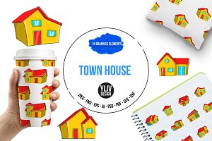 Town house cottage set