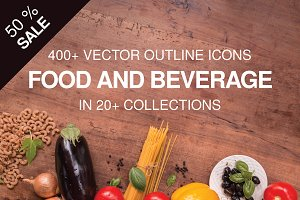 400+ outline FOOD ICONS