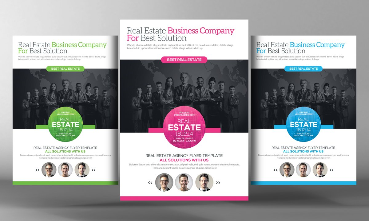 real estate agents flyer template flyer templates on creative market