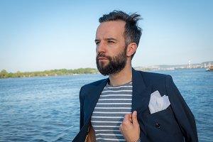 Gentleman in a sailor shirt