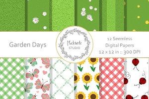 Garden digital paper