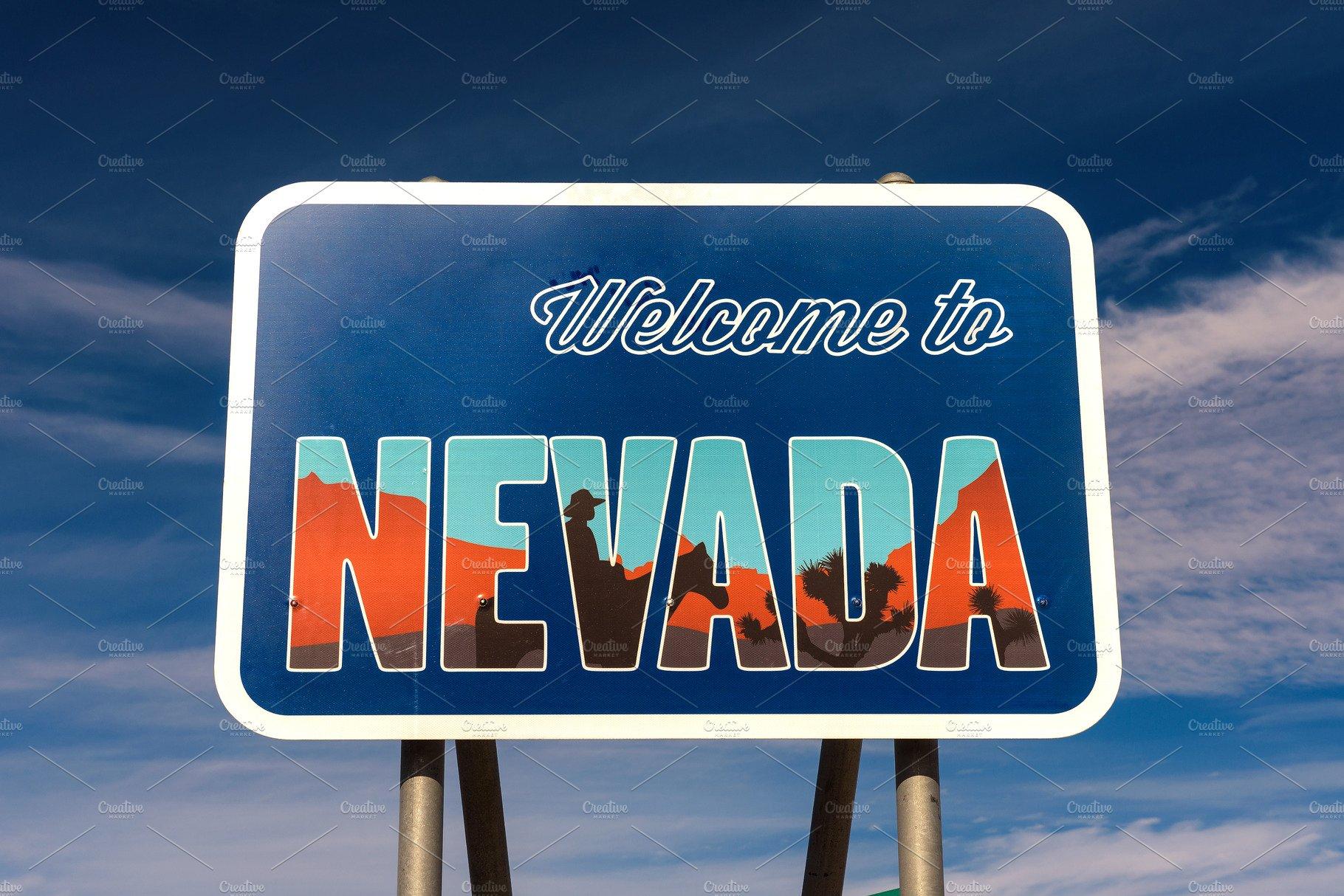 Nevada State Line Hoover Dam Border Arizona Welcome sign