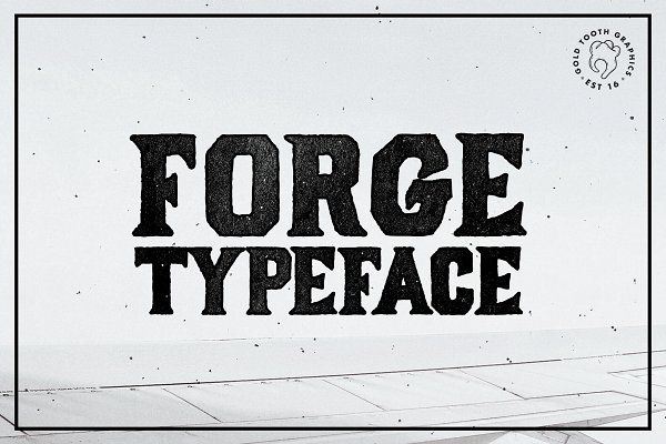 Best Forge Typeface Vector
