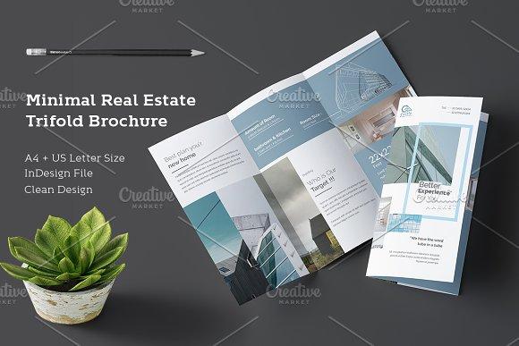 Minimal Real Estate Trifold Brochure