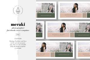 Meraki - Facebook Cover Template
