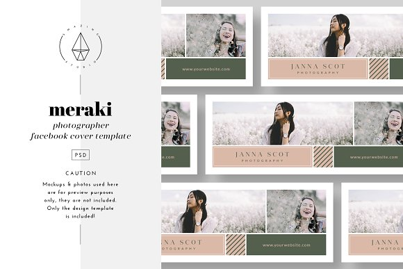 meraki facebook cover template facebook templates creative market