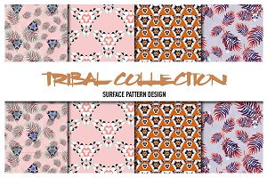 Vector patterns. Tribal collection