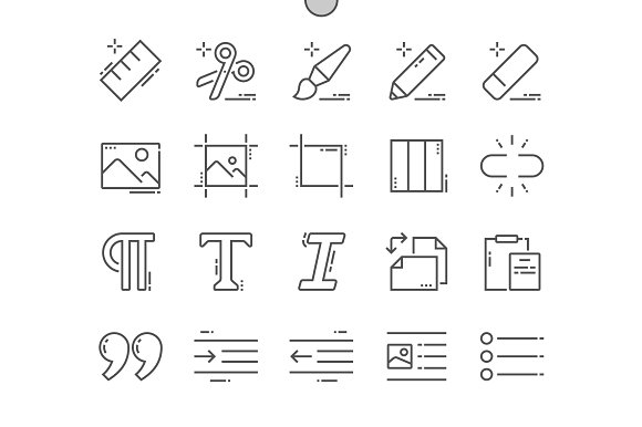 Edit Text Line Icons