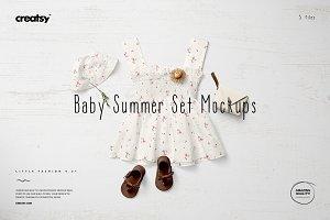 Baby Summer Set Mockup Set