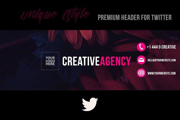 Twitter Templates - Creative Agency Twitter Header (PSD)