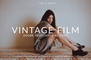 25 Vintage Film Photoshop Actions