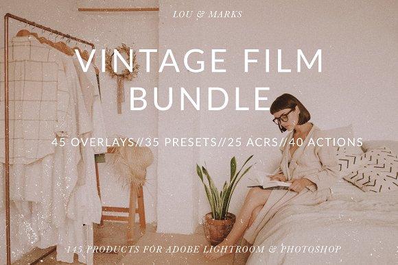 Vintage Film Editing Bundle LR PS