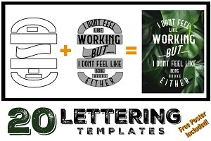 Lettering Composition Templates