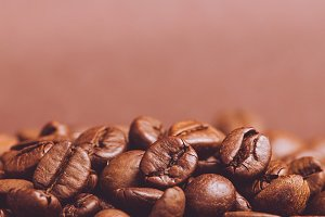 coffee beans on dark background