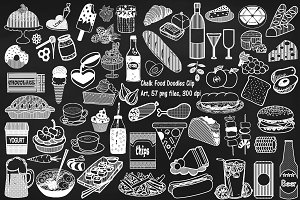 Chalk Food Doodles Clip Art