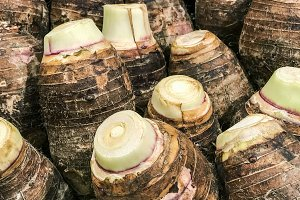 Taro stack in the market