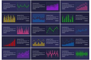 Analytics and Statistics Infographics Collection