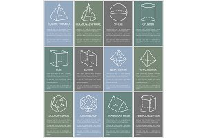 Various Form Geometric Figures Vector Illustration