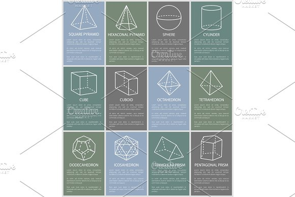 Various Form Geometric Figures Vector Illustration