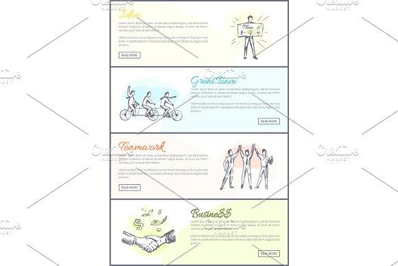 Great Team Teamwork Collection Vector Illustration