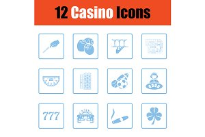 Casino icon set