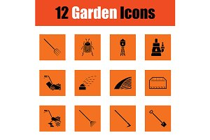 Set of gardening icons