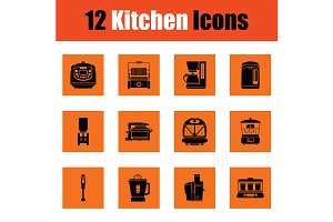 Kitchen icon set