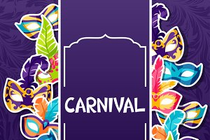 Backgrounds with carnival masks.