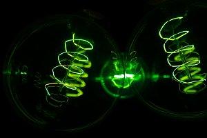 Retro Edison Light Bulbs in Neon
